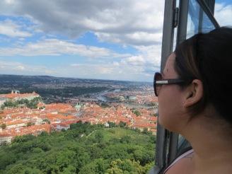 Au sommet de la Tour de Petřín, Prague